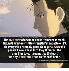 Love And Strength Quotes Simple A Anime Ma Ng Quotes Mb R Com The Power Of One Man Doesn't Amount To