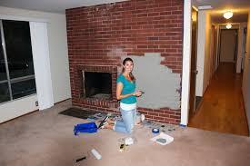 paint colors brick fireplace