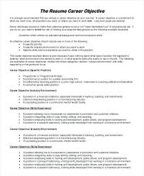 Career Objective Cv Resume Examples Yourdictionary Resume Examples Resume