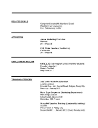 Computer Literacy On Resume