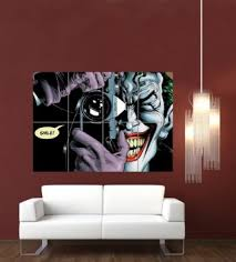 joker batman the killing joke giant poster wall art print poster picture hang on brown wall  on giant wall poster art print with wall art top 10 best sample collection poster wall art harley