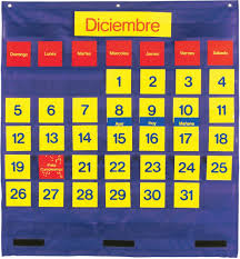 Yellow Calendar Pocket Chart Bilingual Monthly Calendar Pocket Chart Ler2210