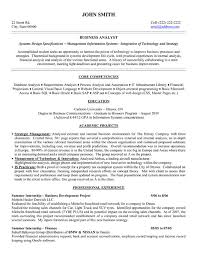 sample resume for business analyst ba graduate resume sample cute sample resume for business analyst