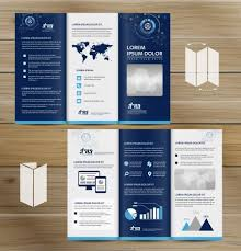 Trifold Brochure Size Trifold Brochure Mockup Realistic Rendering Of Trifold Brochure
