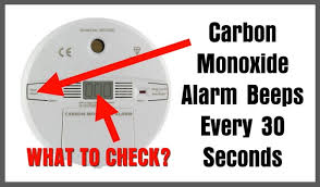 Carbon Monoxide Alarm Going Off Every 30 Seconds What To
