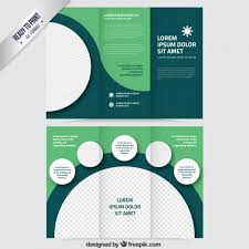 Photo Brochure Green Brochure With Circles Vector Free Download