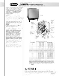 hatco s 54 imperial electric booster water heater 16 gallon spec sheet