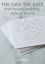 Save The Date No Photo The Perfect Save The Date No Matter Your Style Or Theme