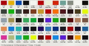 automobile color chart