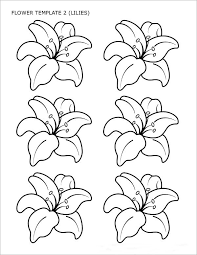 flower template of lilies sample flower temlate 6 documents in pdf on template for a 6 month event timeline
