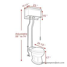 Pull Chain Toilet New Mahogany Flat High Tank Pull Chain Water Closet With White Toilet