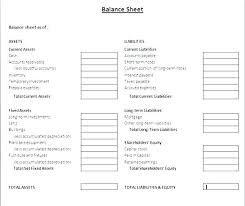 Sample Personal Balance Sheet Detailed Balance Sheet Template
