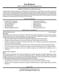 Medical Collections Resume Examples Resume Medical