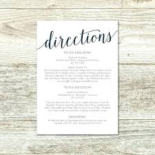Directions Template Wedding Invite Directions Template