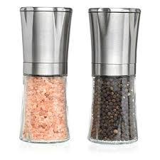salt and pepper shakers. Salt And Pepper Shakers - N Grinder Set, Adjustable Grind Coarseness, Premium