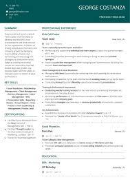 Resume For Team Leader In Bpo Resume Companies That Do Resumes