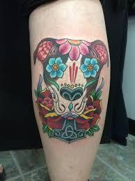 Pitbull Skull Tattoo