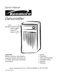 kenmore 35 pint dehumidifier. owner\u0027s manual. dehumidifier kenmore 35 pint d
