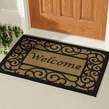 heavy duty indoor outdoor welcome door mat front porch entryway non slip rug new