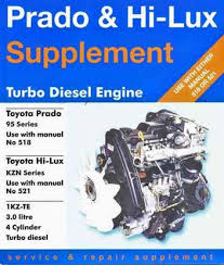 Toyota Prado & Hilux Turbo Diesel Engine Service & Repair Supplement ...