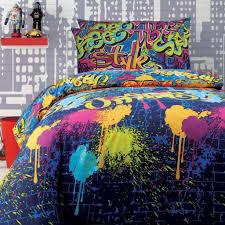 graffiti quilt cover set