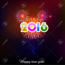 happy new year 2016 with fireworks. Interesting New Happy New Year 2016 With Fireworks Background Stock Vector  34452464 To With Fireworks E