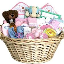 amazon deluxe baby gift basket pink for s shower or holiday gift idea for newborns baby