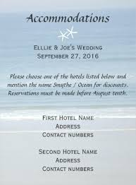 Hotel Accommodations Cards Destination Wedding Accommodation Card Wording Wedding Invitations