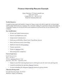 Cover Letter Format For Internship Application Finance Internship