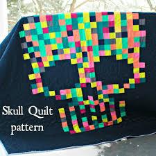 Sugar Skull Quilt PDF pattern download by HungryhippieSews on Etsy ... & Sugar Skull Quilt PDF pattern download by HungryhippieSews on Etsy Adamdwight.com