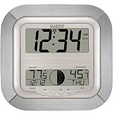miraculous la crosse technology wall clock in com ws 8418al it atomic digital