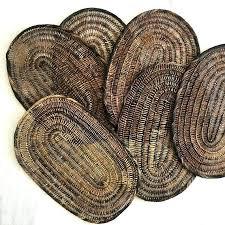 rattan wall art vintage oval brown woven wicker trivet tropical table decor basket wall art rattan rattan wall art