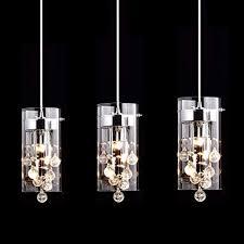 Contemporary crystal pendant lighting Small Claxy Ecopower Lighting Glass Crystal Pendant Lighting Modern Chandelier For Kitchen3 Lights Amazoncom Claxy Ecopower Lighting Glass Crystal Pendant Lighting Modern