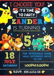 Printable Pokemon Birthday Invitations Awe Inspiring Free Printable Custom Online Birthday Invitations Templates