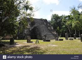 Complex Q, twin pyramid, east side, Mayan ruins, Tikal, Guatemala, Central  America