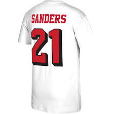 White Mitchell Throwback Deion T-shirt Men's 49ers Player Francisco amp; San Name Ness Number Sanders