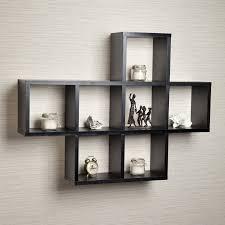 ideas espresso floating shelf  cube floating wall shelves