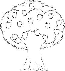 apple tree coloring page. Plain Coloring Apple Tree Coloring Pages Printable With Page P