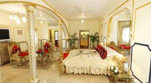 View in gallery Shahi Mahal Suite at Raj Palace - luxurious hotel room