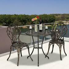3pcs bistro set outdoor garden patio