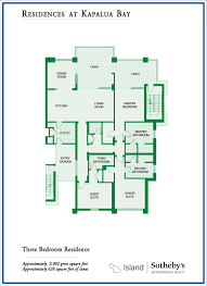 the montage residences kapalua bay floor plans