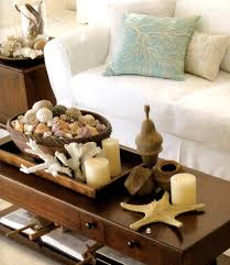 ... Creative Coffee Table Decorating Ideas Pictures For Your Living Room :  Cheerful Rectangular Brown Wooden Coffee ...