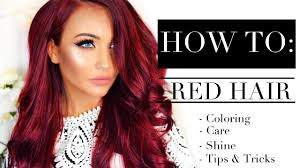 how to red hair coloring care