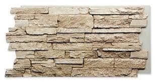 exterior fake stone wall panels. creamy beige dakota stone wall exterior fake panels