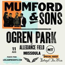 Mumford Sons 08 11 2019 Missoula Montana Ogren Park