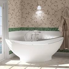 aquatica purescape aquastone 76 75 in matte white natural stone composite tub with center drain