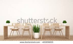 office coffee shop. Dining Area Or Workspace In Office Coffee Shop - 3D Rendering H