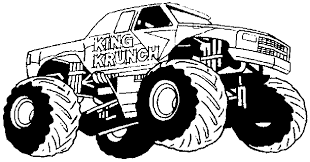 Small Picture Monster Truck Coloring Pages For Kids Coloring Home