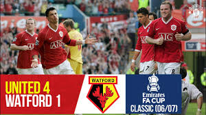 FA Cup Classic | Rooney & Ronaldo swat the Hornets | Manchester United 4-1  Watford (2006/07) - YouTube