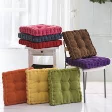 sunnyrain thick corduroy elastic chair cushions for kitchen chair solid color seat cushion square floor cushion